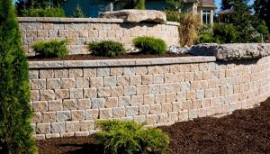 Cobourg Retaining Wall installation